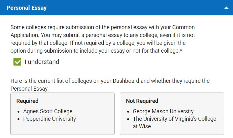 Is the Personal Essay required?